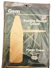 """Vintage Brand New Sealed Gem Ironing Board Pastel Cover 100% Cotton Fits 54"""""""