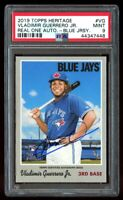 2019 Topps Heritage Vladimir Guerrero Jr. Real One Auto Rookie PSA 9 Mint RC #VG