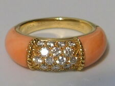 Bague VAN CLEEF & ARPELS Philippine or,diamants et corail TDD 52.