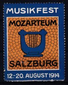 1914 Mozarteum Musikfest Salzburg 12. - 20. August 1914