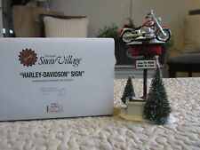 Dept 56 HARLEY-DAVIDSON SIGN #54901  Retired 2002 Snow Village Live to Ride*NEW