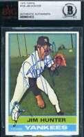 Jim Catfish Hunter 1976 Topps BAS Beckett Coa Autograph Authentic Hand Signed