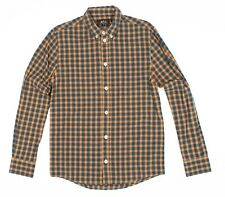 Mens APC Plaid Button Front Long Sleeve Shirt Size XS