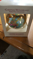 1983 Hallmark Christmas Wonderland Peek- Thru Dated Ball Ornament NIB NEW