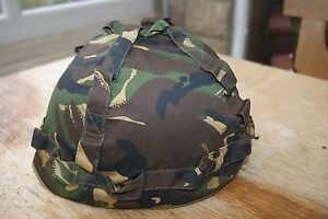 Childs Childrens British UK Style Military Combat Helmet & Camo Woodland Cover