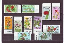 Gambian Flowers Postal Stamps