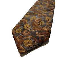 Ermenegildo Zegna Mens Neck Tie Floral Vibrant Design Silk Made In Italy Vintage