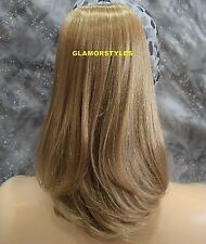 Golden Blonde Straight Ponytail Hair Piece Extension Drawstring Combs #F14.24