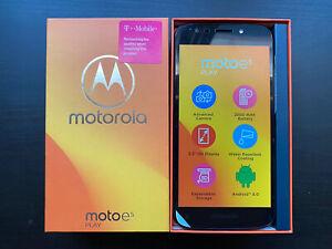 New In Box Motorola Moto E5 Play Cell Smart Phone 16G Gray T Mobile