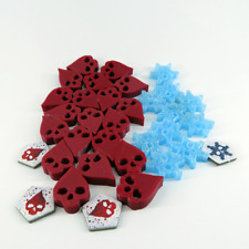 DEAD OF WINTER DELUXE TOKENS x45 scenery expansion plastic 3D Board game