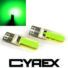 2 CYREX GREEN REPLACEMENT UPGRADE LED LIGHT BULBS FOR INTERIOR/EXTERIOR AUTO B5