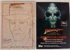 INDIANA JONES Kingdom of Crystal Skull SKETCH CARD topps  Indy