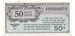 Series 461  50 Cents  ABOUT  UNC