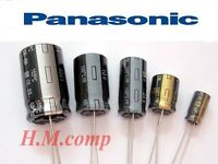 Panasonic Electrolytic Radial Capacitors , High Quality Various Values / Voltage