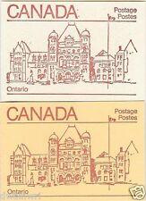 Canada 1983 - 50¢ Maple Leaf Booklets #BK84 Cream & BK84c Orange - Ontario