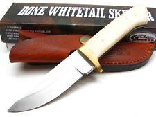 WHITE Bone PA8010 Straight Full Tang SKINNER Skinning Hunting Knife + Sheath!