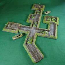 15mm, 13 piece, Flames of War Trench and Dugout Set 2 for WW2 Wargaming