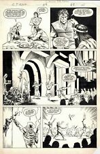 MARC SILVESTRI 1985 CONAN THE KING #29 ORIGINAL MARVEL COMIC ART PAGE 1/3 SPLASH
