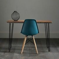 Hairpin Desk In Beautiful Solid Black Walnut With Sliced White Inlay