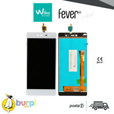 LCD + TOUCH SCREEN DISPLAY PER WIKO FEVER 4G BIANCO WHITE VETRO ASSEMBLATO AAA+