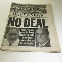 NY Daily News: Sept 28 2001 No Deal