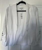 New York And Company Women's White Blazer Jacket Sz Small