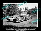 OLD LARGE HISTORIC PHOTO OF ATLANTA GEORGIA, POLICE & PATROL CARS LINE-UP c1950