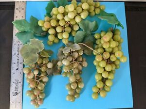 Vintage Rubber Green Grapes Clusters Home Interior Green Decor  -