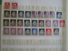 lot de 28 timbres marianne de dulac,gandon,mercure neufs