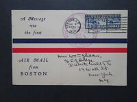 US 1926 First Airmail From Boston Card / Violet Cancel / Creased Corner - Z8261