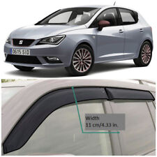 SE10209 Window Visors Guard Vent Wide Deflectors For Seat Ibiza Hb 5d 2009-2016