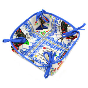 100% Cotton Bread Basket With Traditional Portuguese Sayings - Various Colors