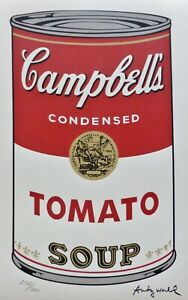 ANDY WARHOL CAMPBELL'S SOUP I TOMATO SIGNED HAND NUMBERED 2722/3000 LITHOGRAPH