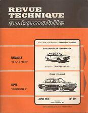 REVUE TECHNIQUE AUTOMOBILE 344 RTA 1975 OPEL REKORD 2100 D RENAULT 15 TL R15 TS