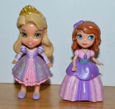 "DISNEY PRINCESS DOLL FIGURE LOT SOPHIA THE FIRST RAPUNZEL TANGLED 3"" TALL"