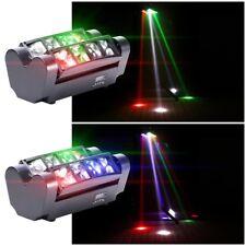 2Pcs U`King 80W 8Led Rgbw Spider Moving Head Stage Lighting Beam Dmx512 Dj Party