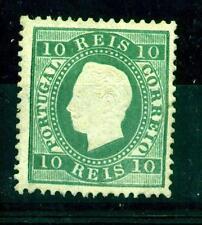 [Portugal 1879/ – King Luiz 10 Reis Blue Green] in 12 ½ perforation