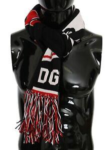 DOLCE & GABBANA Scarf Multicolor DG Royals Fringe Wrap Shawl 24cm x 200cm $600