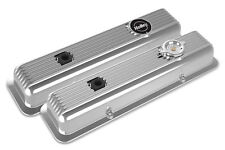 Holley 241-137 Muscle Car Series Polished Finned SB Chevy Valve Covers Z28 LT1