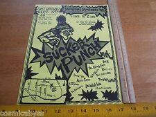 Sucker Punch 1992 ORIGINAL Punk Rock concert poster The Living End Rave-ons