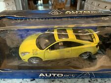 2000 TOYOTA CELICA GT-S DIE CAST MODEL 1/18 YELLOW BY AUTO ART Brand New In Box