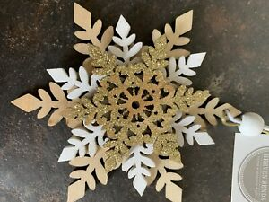 heaven sends christmas Snowflake Wooden Hanging Decoration