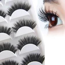 5 Paar Natur Lange Falsche Wimpern Künstliche Augen Wimpern 3D Eyelashes Beauty
