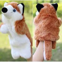 Soft Fox Animal Hand Puppets Kids Plush Stuffed Doll Kindergarten Education Cute