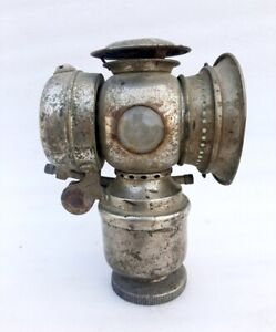 Antique Old Brass Genuine Original Rare Unique Carbide Bicycle Lamp Lantern