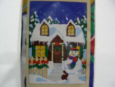 "WINTER CABIN - SIZE 28"" X 40"" DECORATIVE FLAG!"