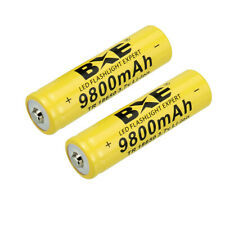 2 PCS Rechargeable 18650 Battery 3.7V Li-ion Batteries Cell for Flashlight
