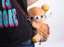 rilakkuma brown bear cute shoulder bag huging plush bag new