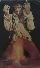 Jimi Hendrix Are You Experienced Vintage Poster Guitar On Fire Pin-up Photo Pic
