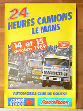 Affiche  24 Heures du Mans  Camion  1989   RENAULT RVI  MAN  WHITE